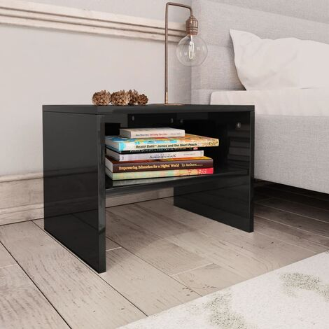 vidaXL Bedside Cabinet with Open Compartment Bedroom Telephone Stand End Couch Table Nightstand Interior Chipboard Multi Colours/Quantities