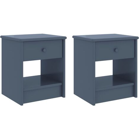 vidaXL Bedside Cabinets 2 pcs Light Grey 35x30x40 cm Solid Pinewood - Grey