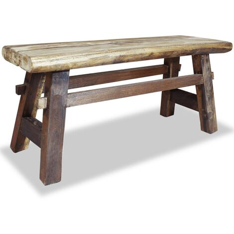 vidaXL Bench Solid Reclaimed Wood 100x28x43 cm - Brown