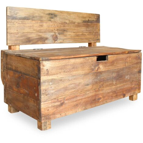 vidaXL Bench Solid Reclaimed Wood 86x40x60 cm - Brown