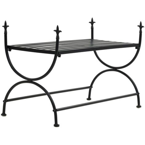 vidaXL Bench Vintage Style Metal 83x42x55 cm Black - Black