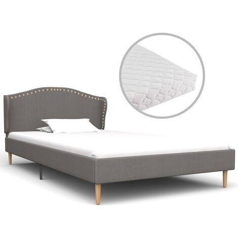 vidaXL Bett mit Matratze Klassisch Polsterbett Doppelbett Stoffbett Ehebett Schlafzimmerbett Bettgestell Bettrahmen Lattenrost Stoff mehrere Auswahl