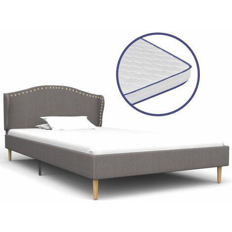 vidaXL Bett mit Memory-Schaum-Matratze Polsterbett Doppelbett Stoffbett Schlafzimmerbett Bettgestell Bettrahmen Lattenrost Stoff mehrere Auswahl