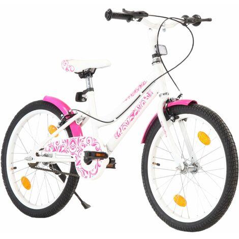 """main image of """"vidaXL Bicicleta para niños 20 pulgadas rosa y blanco - Rosa"""""""