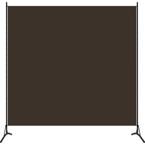 vidaXL Biombo divisor de 1 panel marrón 175x180 cm - Marrón