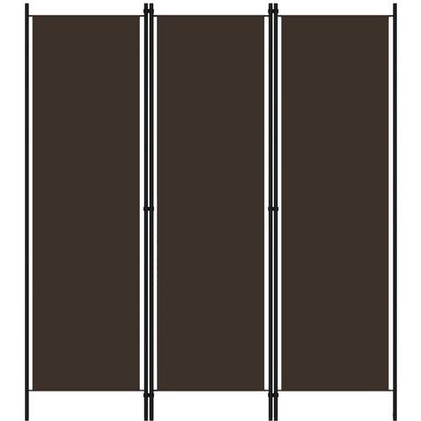 vidaXL Biombo divisor de 3 paneles marrón 150x180 cm - Marrón