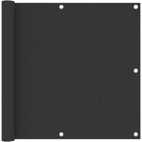vidaXL Biombo para balcón de tela oxford antracita 90x300 cm - Antracita