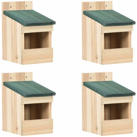 """main image of """"vidaXL Bird Houses 4 pcs 12x16x20 cm Firwood"""""""