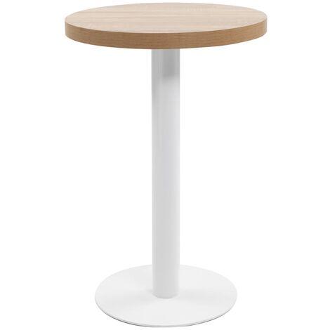 "main image of ""vidaXL Bistro Table MDF Dark Brown 50 cm - Brown"""