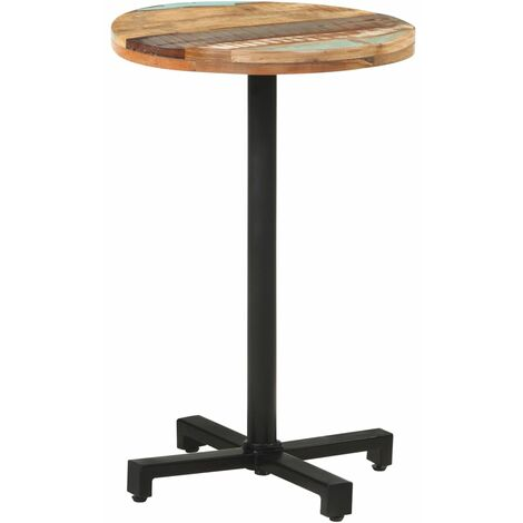 """main image of """"vidaXL Bistro Table Round Ø50x75 cm Solid Reclaimed Wood - Brown"""""""