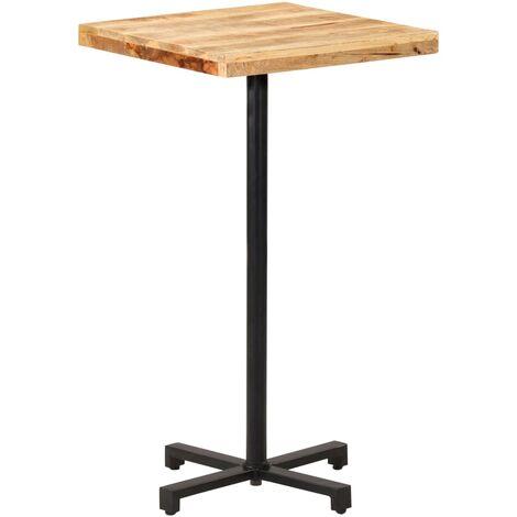 vidaXL Bistro Table Square 50x50x75 cm Rough Mango Wood - Brown