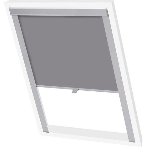vidaXL Blackout Roller Blind Grey PK06 - Grey