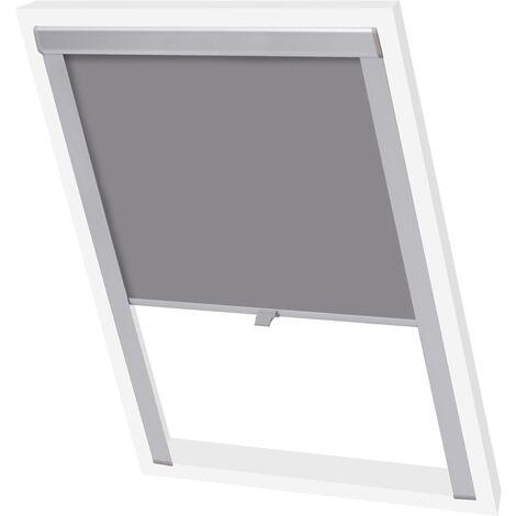 vidaXL Blackout Roller Blind Grey SK06 - Grey