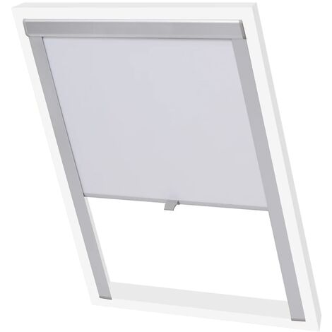 vidaXL Blackout Roller Blind White UK08 - White