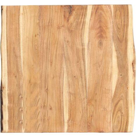 vidaXL Bois d'Acacia Massif Dessus de Table Plateau de Table de Salle à Manger Tablette de Table à Dîner Dessus de Table de Repas Multi-taille