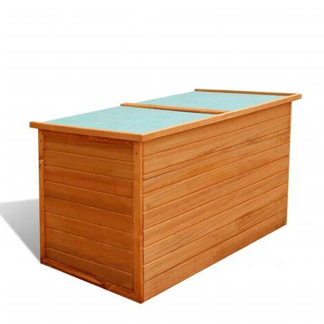 vidaxl bo te de rangement pour jardin bois 41649. Black Bedroom Furniture Sets. Home Design Ideas