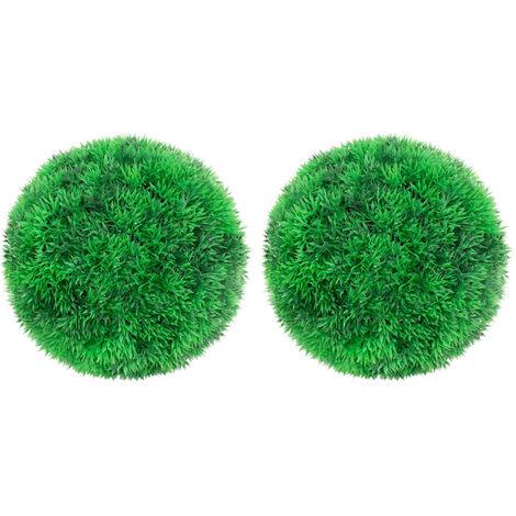 vidaXL Bolas de boj artificial 2 unidades 22 cm - Verde