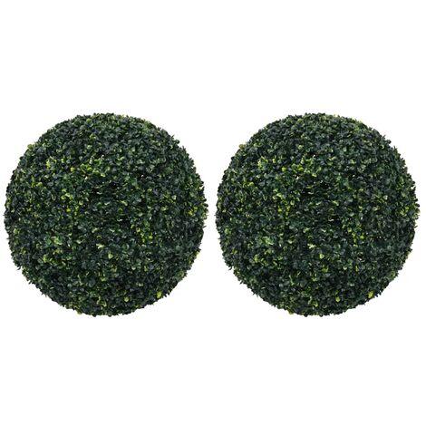 vidaXL Bolas de boj artificial 2 unidades 52 cm - Verde