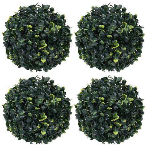 vidaXL Bolas de boj artificial 4 unidades 12 cm - Verde