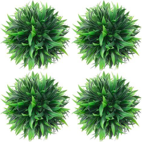 vidaXL Bolas de boj artificial 4 unidades 15 cm - Verde