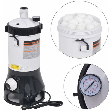 vidaXL Bomba filtro de piscinas Intex Bestway 185W 4,4 m³/h - Multicolor