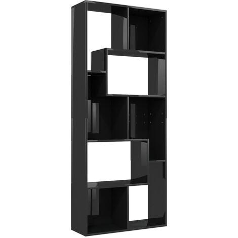 "main image of ""vidaXL Book Cabinet Black 67x24x161 cm Chipboard - Black"""