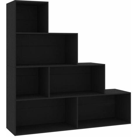vidaXL Book Cabinet/Room Divider 155x24x160 cm Chipboard Living Room File Shelves Display Bookcase Storage Rack Unit Highboard Multi Colours