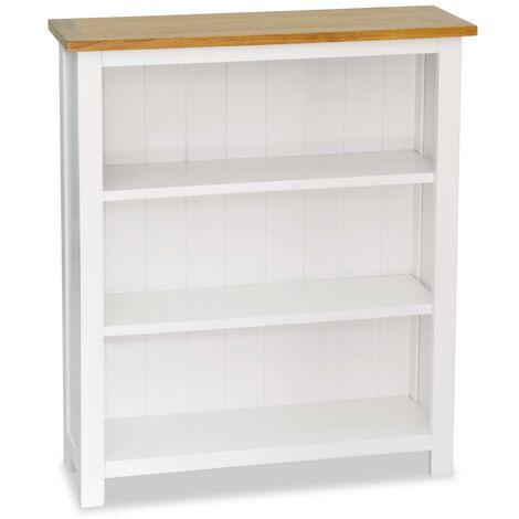 "main image of ""vidaXL Solid Oak Wood Bookcase with Shelves Office Furniture Wooden Book Rack Display Storage Standing Bookshelf Home Organiser Multi Sizes"""