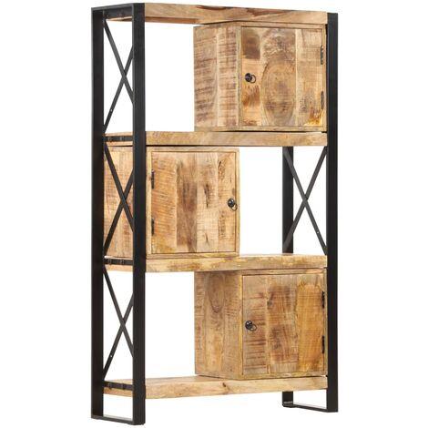 vidaXL Bookshelf 90x30x150 cm Solid Mango Wood - Brown