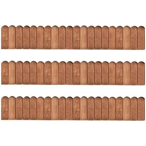 vidaXL Border Rolls 3 pcs 120 cm Impregnated Pinewood - Brown