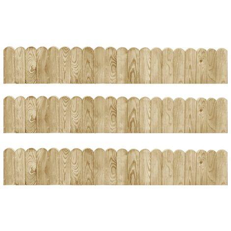 vidaXL Border Rolls 3 pcs 120 cm Impregnated Pinewood - Green