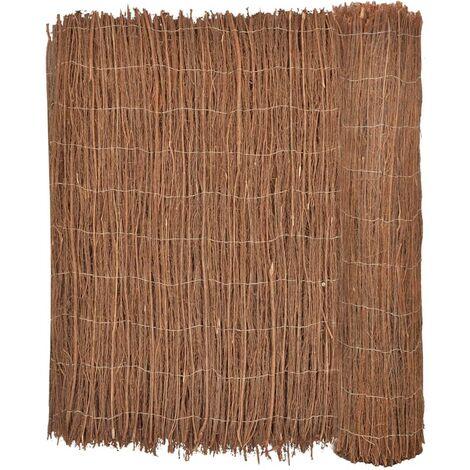 vidaXL Brushwood Fence 400x150 cm - Brown