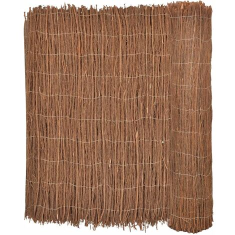 vidaXL Brushwood Fence 400x170 cm - Brown
