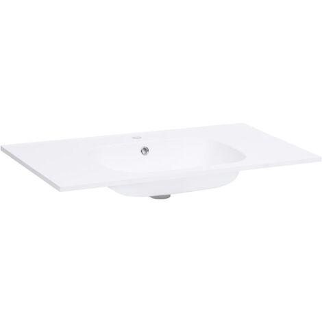 vidaXL Built-in Wash Basin 900x460x105 mm SMC White - White