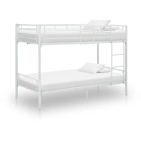 "main image of ""vidaXL Bunk Bed Metal 90x200 cm Grey - Grey"""