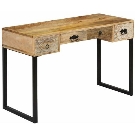 vidaXL Bureau Table d'Ordinateur Table de Travail Meuble Informatique Table d'Ecriture Table d'Etude Maison Intérieur Multi-matériau
