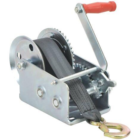 """main image of """"vidaXL Cabestrante manual con correa 1130 kg - Plateado"""""""