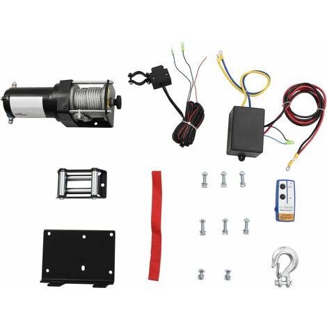 """main image of """"vidaXL Cabrestante eléctrico placa montaje guía de rodillo 12V 1360KG"""""""