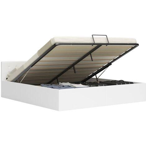 vidaXL Cama canapé hidráulica con almacenaje tela marrón 160x200 cm - Marrone