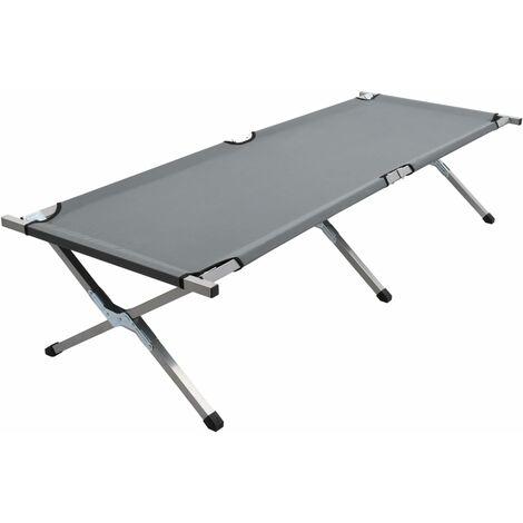 vidaXL Cama de camping gris XL 190x74x47 cm - Gris