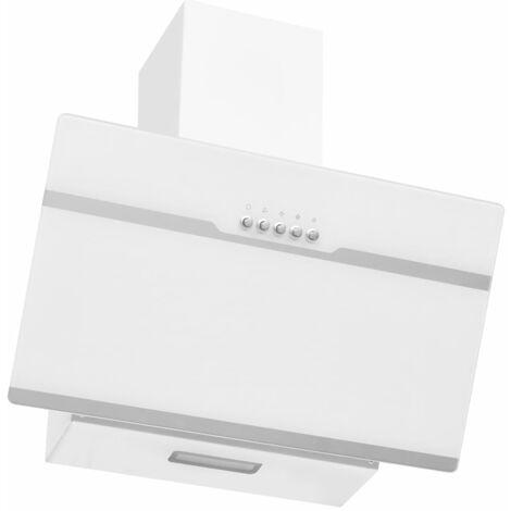 """main image of """"vidaXL Campana extractora acero inoxidable vidrio templado blanco 60cm - Blanco"""""""
