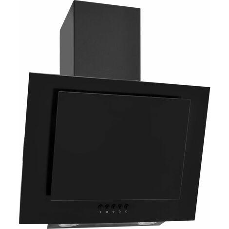 "main image of ""vidaXL Campana extractora acero inoxidable vidrio templado negro 60 cm - Negro"""