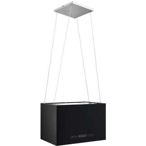 vidaXL Campana extractora colgante táctil LCD acero recubierto 55 cm - Negro