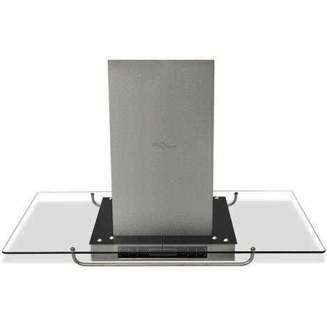 vidaXL Campana extractora para cocina isla con pantalla LCD - Plateado