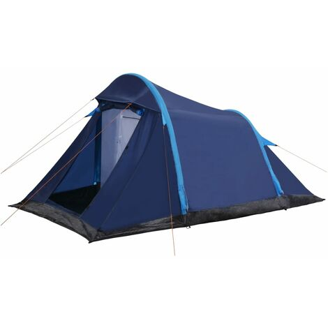 """main image of """"vidaXL Camping Tent Tunnel Tent Camping Garden Outdoor Beach Hiking Fishing Rain Sun Shelter with Inflatable Beams Blue/Blue and Green"""""""