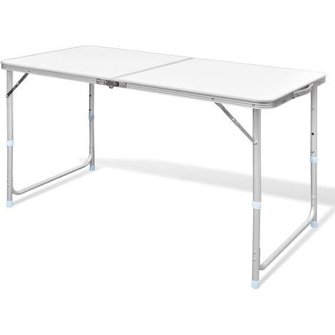 vidaXL Campingtisch Höhenverstellbar Koffertisch Klapptisch Gartentisch Falttisch Picknicktisch Sitzgruppe Aluminium mehrere Auswahl