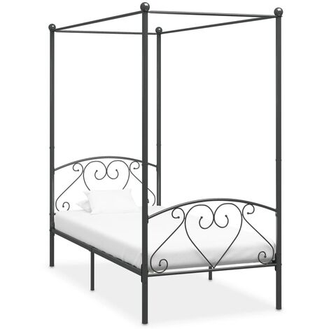 vidaXL Canopy Bed Frame Durable Home Bedroom Furniture Accessory Bed Base for Children Child Kid Adult Frame Metal Multi Sizes/Colours
