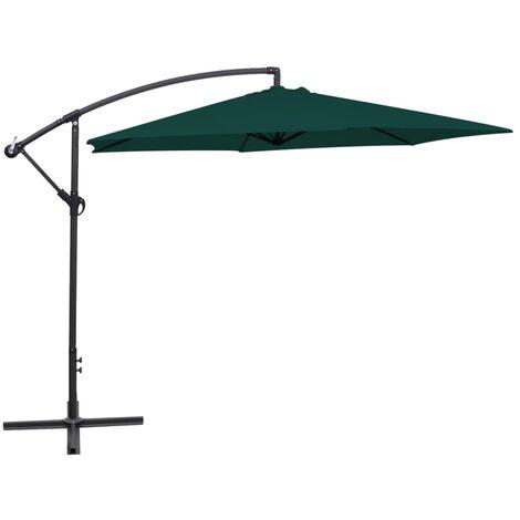 vidaXL Cantilever Umbrella 3 m Green - Green