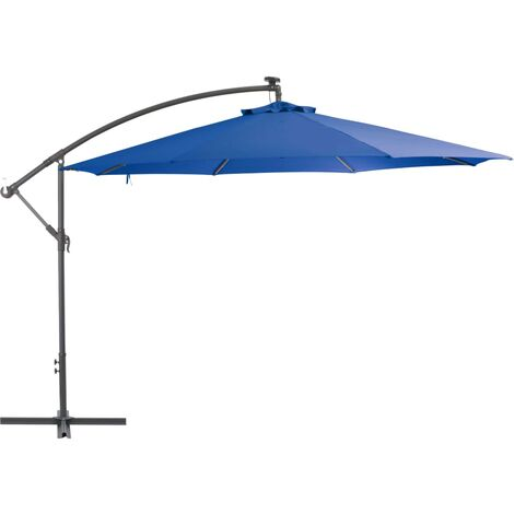 vidaXL Cantilever Umbrella with Aluminium Pole 350 cm Blue - Blue