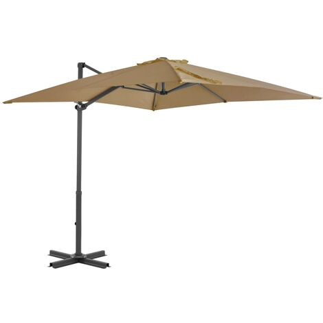 "main image of ""vidaXL Cantilever Umbrella with Aluminium Pole Taupe 250x250 cm - Brown"""